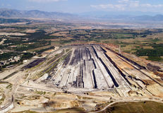 Surface coal mine, aerial. View stock photography