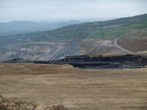 Surface coal mine. Northern Bohemia stock photography