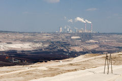 Surface coal mining Royalty Free Stock Images