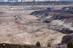 Surface coal mining-excavation Royalty Free Stock Photos