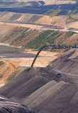 Surface Coal Mining. Heavy equipment at surface mine for lignite around Garzweiler in North Rhine-Westphalia, Germany Royalty Free Stock Photos