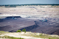 Surface coal mining Royalty Free Stock Image