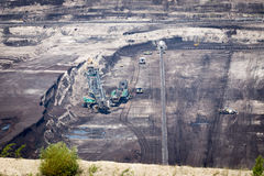 Surface coal mining Royalty Free Stock Photography
