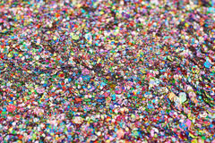 Surface coated with colorful sequins Stock Photography