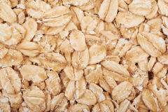 Surface coated with oatmeal flakes Royalty Free Stock Photos