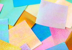 Surface coated with origami sheets Royalty Free Stock Photography