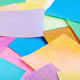 Surface coated with origami sheets Royalty Free Stock Image