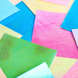Surface coated with origami sheets Stock Photography