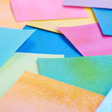 Surface coated with origami sheets Royalty Free Stock Images