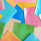 Surface coated with origami sheets Stock Photo