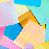 Surface coated with origami sheets Stock Image