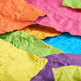 Surface coated with paper sheets Stock Image