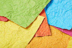 Surface coated with paper sheets Stock Photos