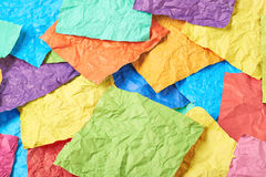 Surface coated with paper sheets Royalty Free Stock Images