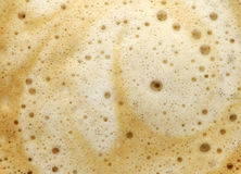 Surface of coffee. With bubbles Royalty Free Stock Photo