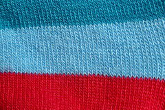 Surface of colorful fabric socks in macro style. Royalty Free Stock Image