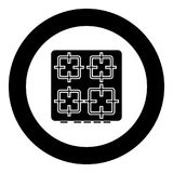 The surface of the cooker icon black color in circle. Vector illustration isolated Stock Photos