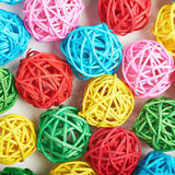 Surface couverte de boules de paille Image libre de droits
