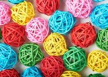 Surface couverte de boules de paille Images stock