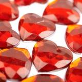 Surface couverte de perles de coeur Photographie stock libre de droits