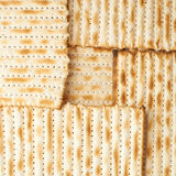 Surface covered with matza flatbread Royalty Free Stock Image