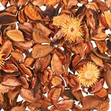 Surface covered with medley potpourri Royalty Free Stock Image