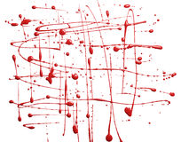 Surface covered with paint spills Royalty Free Stock Photo