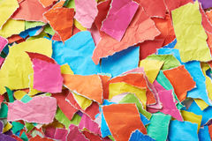Surface covered with pieces of paper Royalty Free Stock Photos