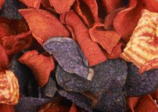 Surface covered with vegetable chips royalty free stock photos