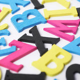 Surface covered with the wooden letters Stock Photography