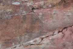 Surface of crack stone as background Royalty Free Stock Images