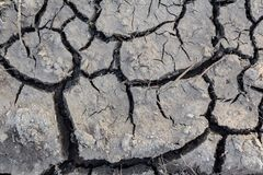 Surface of cracked earth for texture background, dried clay. stock photo