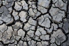 Surface of cracked earth for texture background, dried clay. stock photography