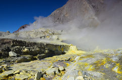 Surface of the crater of an active volcano. New Zealand. Stock Photography