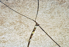 Surface criquée Image stock