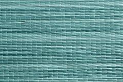 Surface cyan de tapis de paille de couleur Image stock