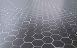 Surface 3d abstraite avec des hexagones Photo libre de droits