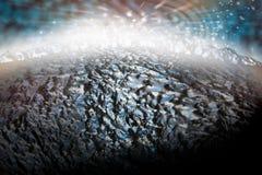 Surface d'espace lointain et de planète Images stock