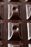 Surface of dark chocolate Stock Images