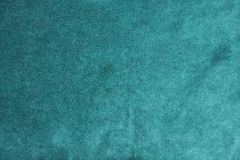 Surface of dark green napped fabric. From above Royalty Free Stock Image