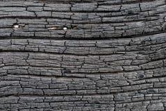 Surface de bois carbonisé Image stock
