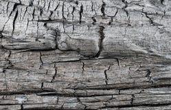 Surface de bois carbonisé Images libres de droits