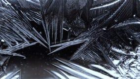 Surface de congélation de rosée de fond abstrait banque de vidéos