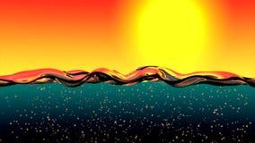 Surface de l'eau l'animation de l'eau remplit écran HD 1080 banque de vidéos