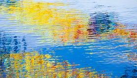 Surface de l'eau avec des réflexions colorées Photos stock