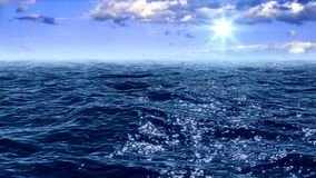 Surface de la mer banque de vidéos
