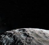 Surface de lune 3d réalistes rendent de la lune et de l'espace L'espace et planète satellite nébuleuse Étoiles Éléments de cette  illustration libre de droits