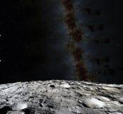 Surface de lune 3d réalistes rendent de la lune et de l'espace L'espace et planète satellite nébuleuse Étoiles Éléments de cette  illustration de vecteur