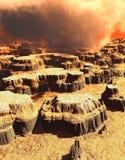 Surface de Mars Photographie stock libre de droits