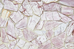 Surface de mur avec la pierre rose de granit Image stock
